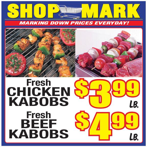 10 chicken beef kabob