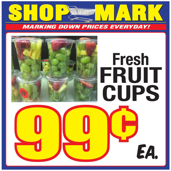 4 fresh fruit cups